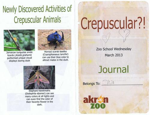O7's Zoo School Journal