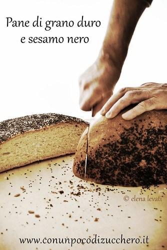 Pane di grano duro e sesamo nero br