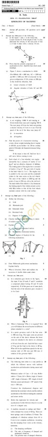 UPTU B.Tech Question Papers - AG-243 - Kinematics & Dynamics