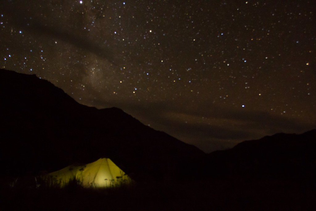 A clear night in the Aviles Valley. Future Patagonia National Park. Aysen, Chile.