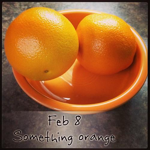 Feb 8 - something orange {oranges in an orange Fiestaware bowl} #fmsphotoaday  #orange