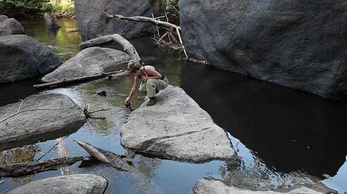 Julia Dimon jungle survival outside Surama in Guyana