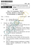UPTU B.Tech Question Papers - TPT-401 - Natural Resins & Polymers, Plasticizers Additives