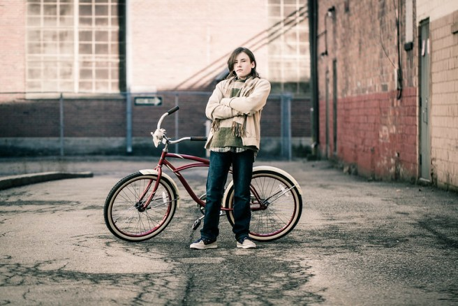 Tiarnan and his bicycle
