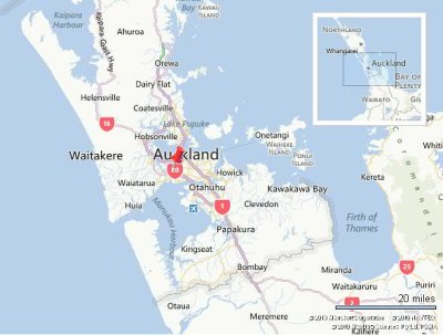 auckland  nz map