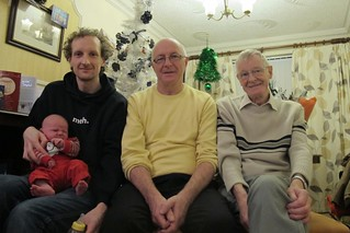 Rowan with his Dad, Grandad and Great Grandad