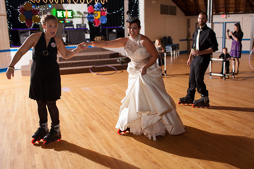 Bride and Crew Rollerblade