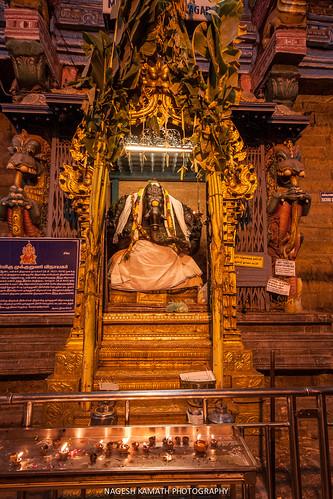 Ganesha idol at Meenakshi Temple