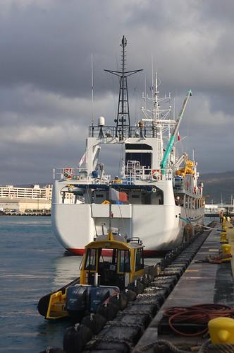 Hokuho Maru and pilot boat