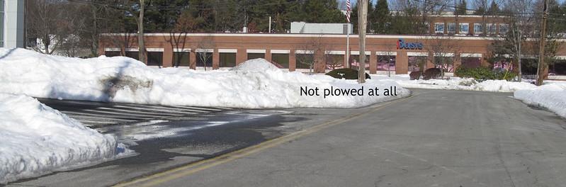 Burlington streets and snow
