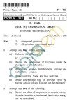 UPTU: B.Tech Question Papers - BT-403 - Enzyme Technology