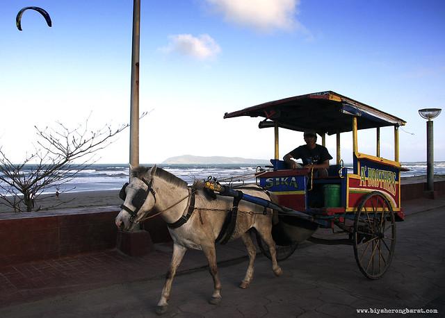 calesa in promenade bagasbas beach