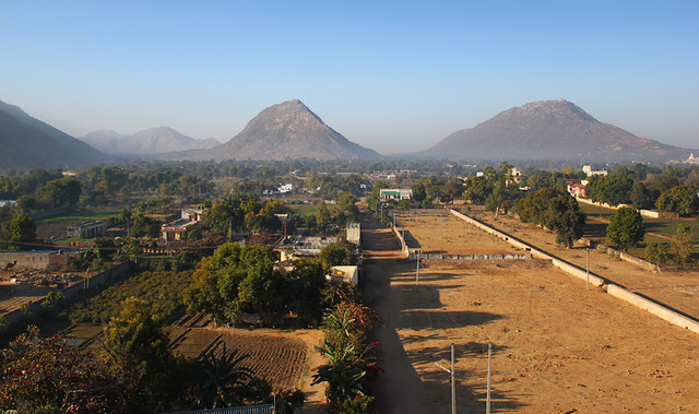 View from my hotel in Pushkar