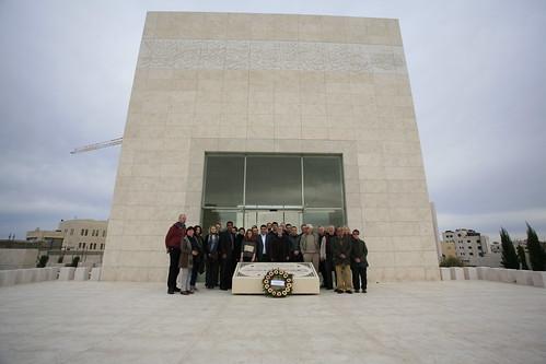 group at Yasser Arafat's tomb 2