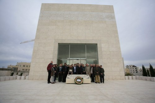 group at Yasser Arafat's tomb 2