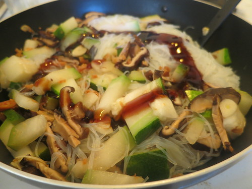 Stir fried glass noodles