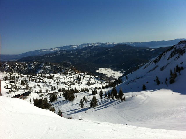 Snowboarding Squaw Valley