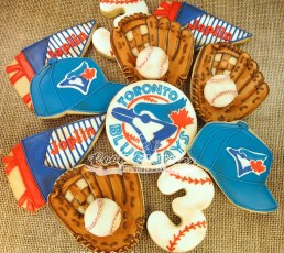 Blue Jays Baseball set cookies