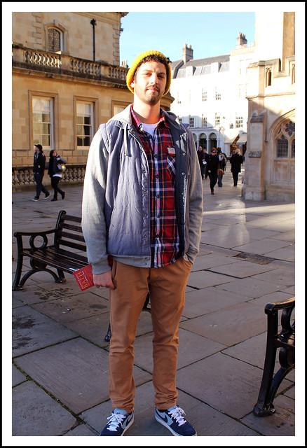 Men's outfit post lumberjack shirt