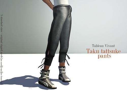 ~Tableau Vivant~ Taku tattsuke pants-AD