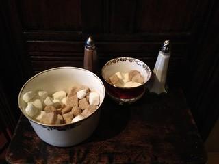 Sugar bowls, Vennels Café, Durham