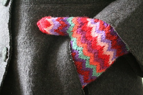 knitted :: Chevron Mittens