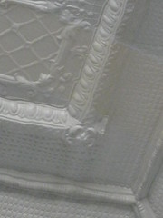 Detail of the Art Nouveau Pressed Metal Ceiling in the Restaurant of the Korumburra Railway Station - Station Street, Korumburra
