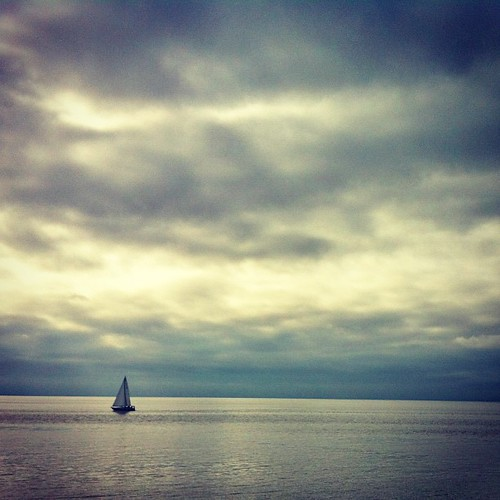 Little sailboat on the great big ocean