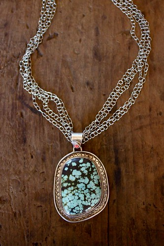 turquoise,coral & silver by denise carbonell