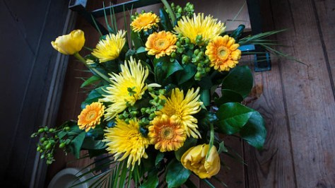 Flowers sent by post