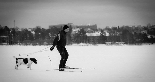 Skiing on ice