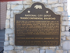 P1170739 California Historical Landmark No. 1023 National City Depot Transcontinental Railroad