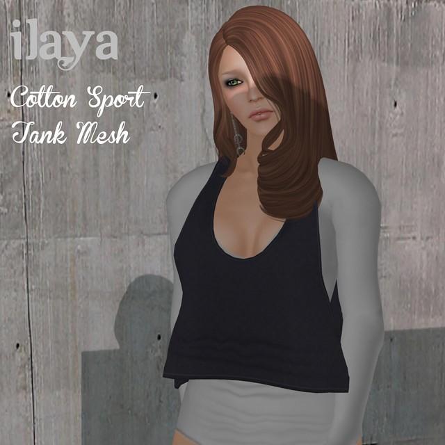 ILAYA Cotton Sport Tank Mesh Mauve
