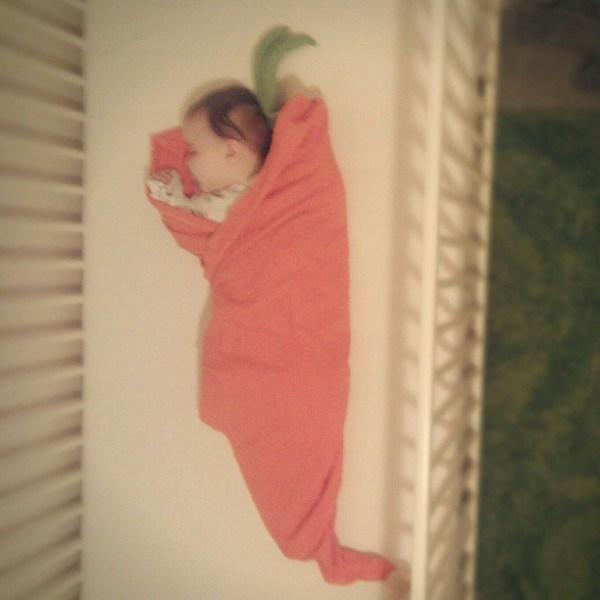 Baby carrot. #tinybuttonsblog