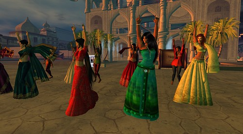 Dancing for the video - photograph by Scheherazade Storyteller