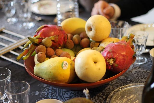 Lychees, Dragonfruits, Mangoes...