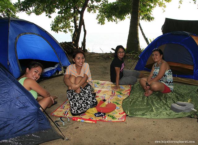 Camping in Quinamanucan Island Vinzons Camarines Norte