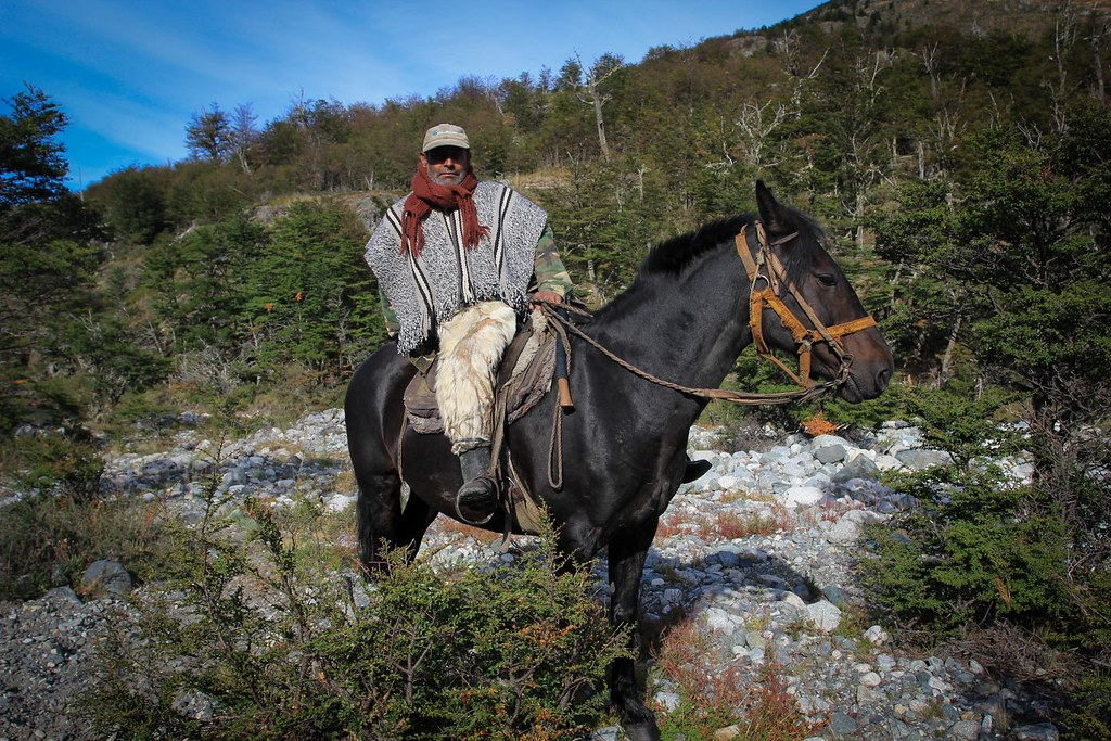 Patagonian gaucho on the forgotten mountain routes of remote Aysen. Patagonia, Chile.