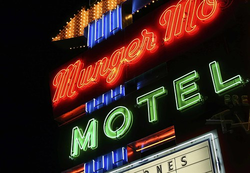 Munger Moss Motel Neon, Route 66, USA. Copyright Jen Baker/Liberty Images; all rights reserved.