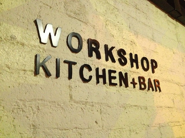 Workshop Kitchen + Bar sign