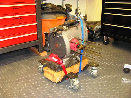 Another use for Park-n-Move Dolly as Engine Stand