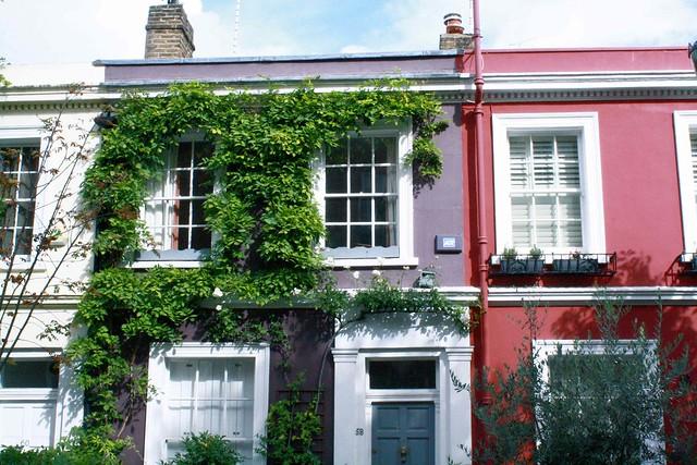Notting hill purple pink house loondon