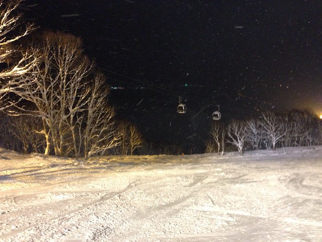 Night Skiing at Niseko