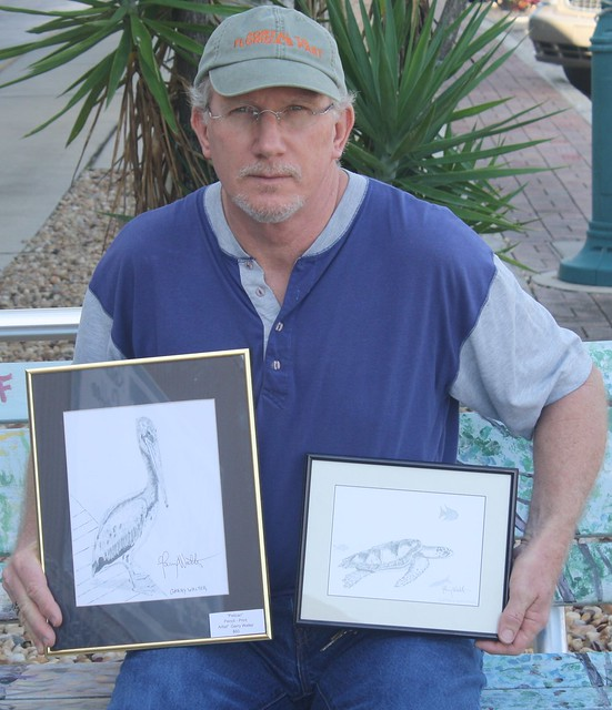Garry Walter and sketches from Dolphin Tale