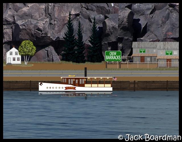 Boat crew housing