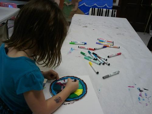O7 working on her Macchia piece