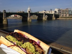 Southwark Bridge with a game sandwich from The Guildable Manor