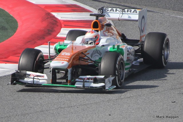 Paul Di Resta in his Force India at Formula One Winter Testing, 3rd March 2013