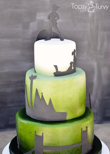 Peter Pan Shadows Birthday Cake Ashlee Marie Real Fun