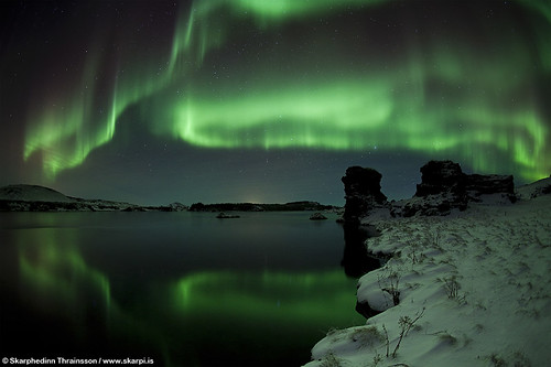 Aurora Borealis at Mývatn, North Iceland
